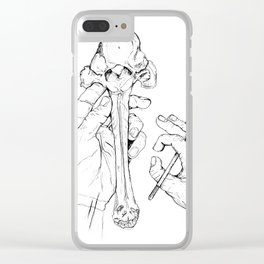 Holding Skeletons Clear iPhone Case