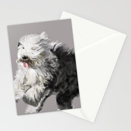 Old English Sheepdog On the Move Stationery Cards