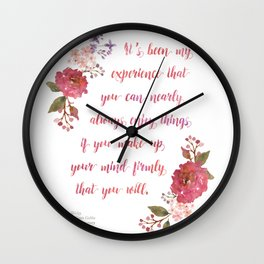 Anne of Green Gables Make Up Your Mind Wall Clock