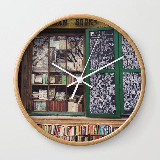 Shakespeare in Paris #2 Wall Clock