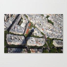 Paris from Eiffel Tower Canvas Print