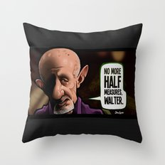 Half Measures Throw Pillow