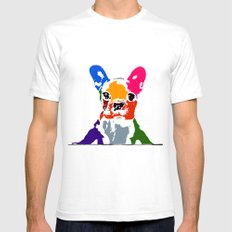 Waiting White Mens Fitted Tee SMALL