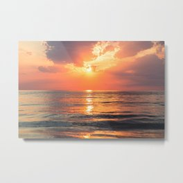 Los Angeles California beach at sunset Metal Print