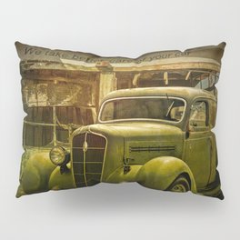Service Station Automobile Car Care Pillow Sham