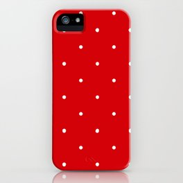 Polka Dot Red iPhone Case