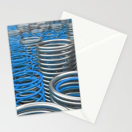 Plastic and metal springs and coils Stationery Cards
