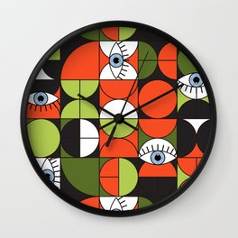 Bauhaus Eyes #1 Wall Clock