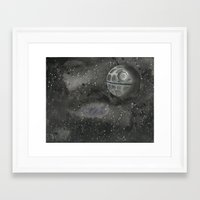 death star Framed Art Prints featuring death star by Dan Solo Galleries