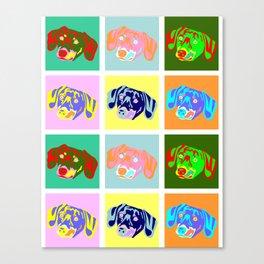 Dachshund Pop Art Canvas Print