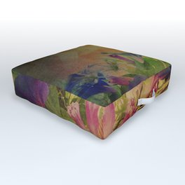 Flowers have music for those who will listen Outdoor Floor Cushion