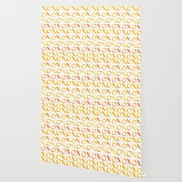 xoxo Watercolor Yellow Orange Wallpaper
