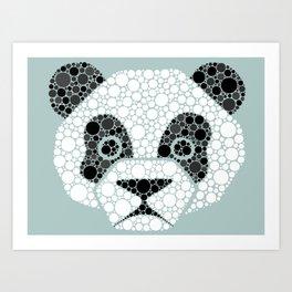 Colourblind Panda Art Print