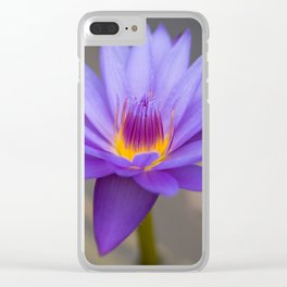 Purple Water Lily Clear iPhone Case