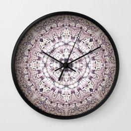 MAUVE MANDALA Wall Clock