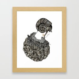 Aries Lady - Illustration By Chrissy Lau Framed Art Print