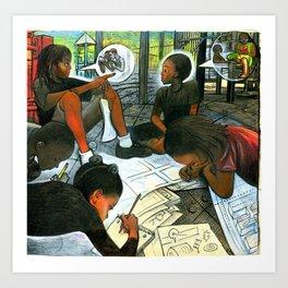 Free Air, Water, And Education Art Print