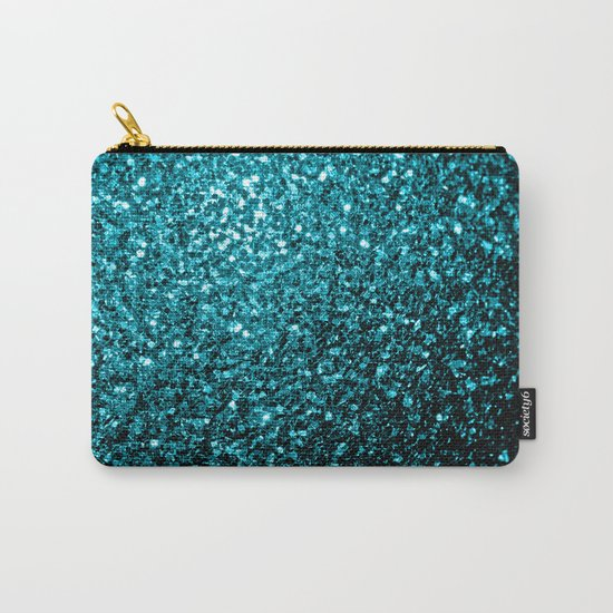 Beautiful Aqua blue glitter sparkles Carry-All Pouch