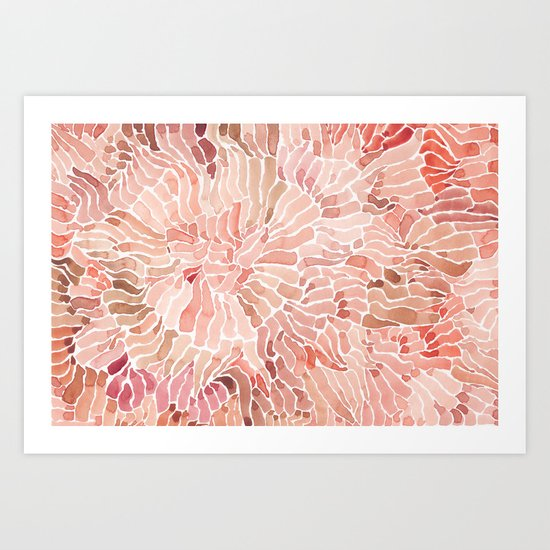 Red Fern Art Print