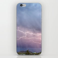 March Lightning Over Cave Creek Arizona iPhone & iPod Skin