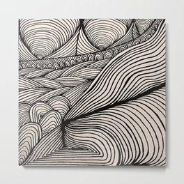 Zentangle #10 Metal Print