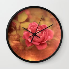 Fairy Tale Rose Wall Clock