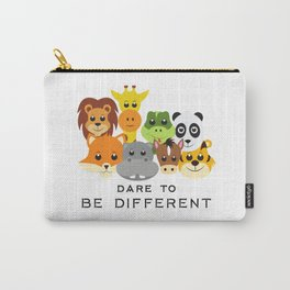 Dare to Be Different Gang of Animals Carry-All Pouch