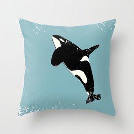 Killer whale art Throw Pillow