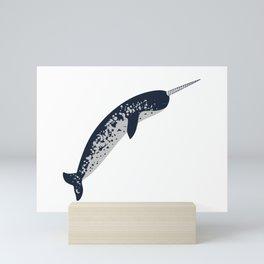 Happy Narwhal Mini Art Print