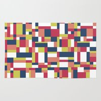 matisse Area & Throw Rugs featuring Map Matisse #1 by Project M