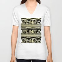 chic V-neck T-shirts featuring Ethnic Chic by Louise Machado