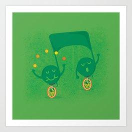 a fun musical note Art Print