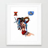 heavy metal Framed Art Prints featuring Heavy Metal by lesinfin