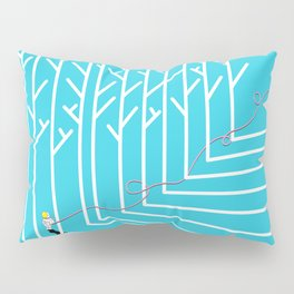 Astro Balloon | My Balloon Friend | Astronaut in Forest | Cosmonaut | pulps of wood Pillow Sham