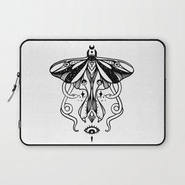 Luna Moth, Snakes, Third Eye, Witchy Illustration Laptop Sleeve