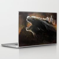 godzilla Laptop & iPad Skins featuring Godzilla by Wesley S Abney