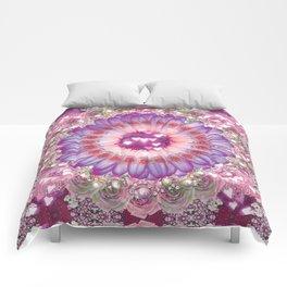 pink love daisy Comforters