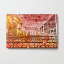 Abandoned Silk Mill - Pastel Grunge Metal Print
