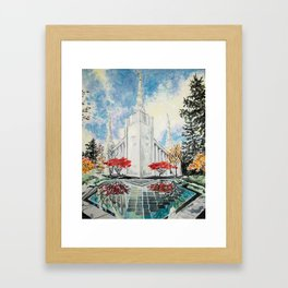 Portland Oregon LDS Temple Framed Art Print