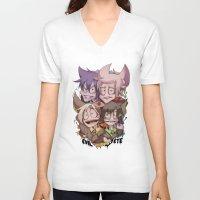 evil eye V-neck T-shirts featuring Evil Eye by La.icka