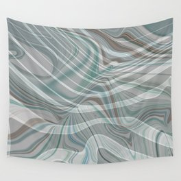 BIRCH muted colors of the woods - green grey brown abstract design Wall Tapestry