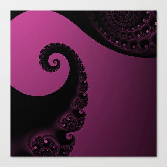 Pink and Black Fractal Canvas Print