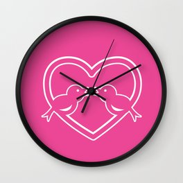 Bird Love Wall Clock
