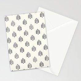block print palm  Stationery Cards