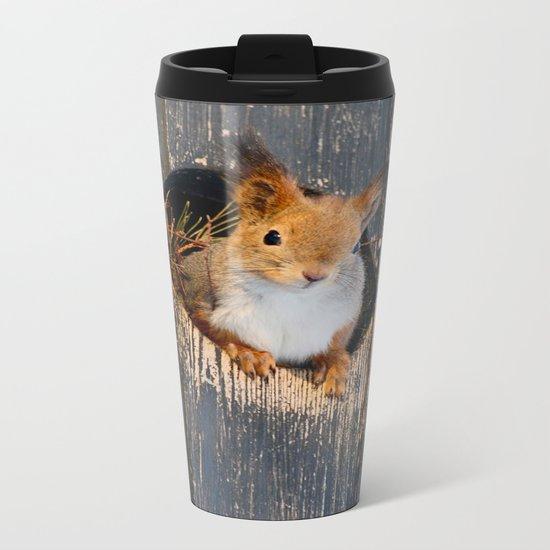 Peek-A-Boo!  Metal Travel Mug