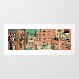 Hitchcock's Rear Window Art Print