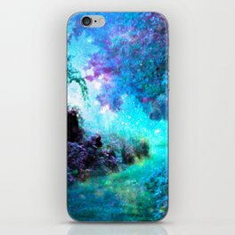 Fantasy Garden Path Turquoise Purple iPhone Skin