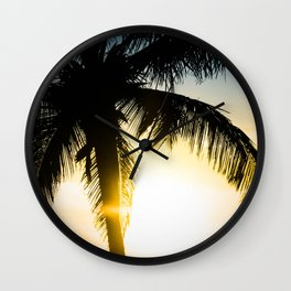 Palm Beach Gold Wall Clock