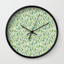 Poppy Buds Wall Clock
