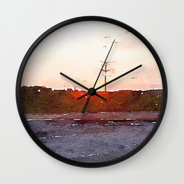 Four Hours In The Car Wall Clock